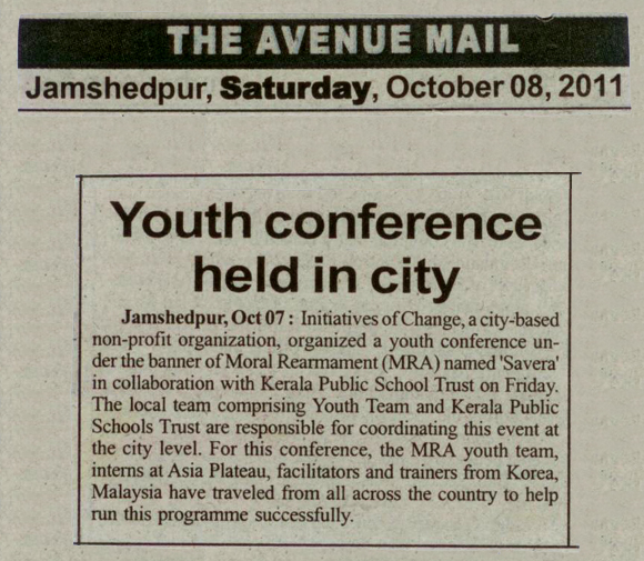Savera Camp Oct 8, 2011 - Regional Conference, Jamshedpur, The Avenue Mail